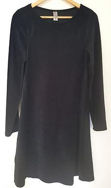 שמלת קטיפה שחורה M I
