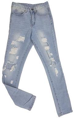 ג'ינס קרעים גזרה גבוהה XS I TWEnTYFourseven