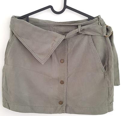 חצאית מיני מעטפה ירוק צהלי M I H&M