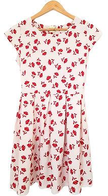 שמלת רטרו פרחים אדומים S\M I מאיושה