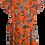 Thumbnail: שמלת מעטפה תפוזית עם פרחים L I GOLF