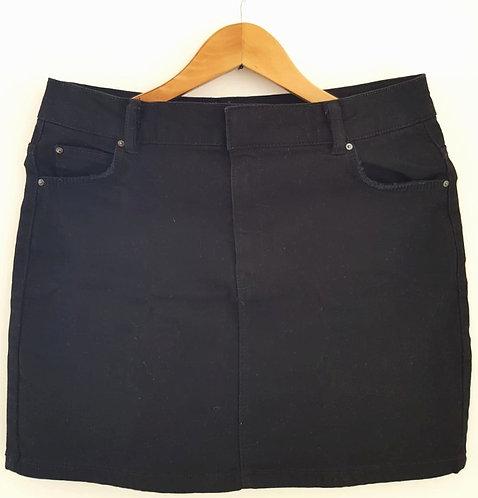 חצאית ג'ינס מיני שחורה M I Bershka