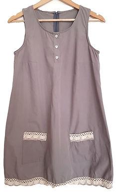 מכופתרות I שמלה עם קרושה בסגנון וינטג'  S