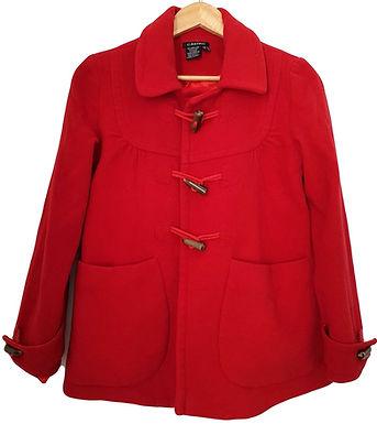 מעיל רטרו צמר אדום S | CASTRO