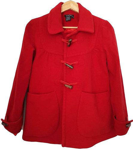 מעיל רטרו צמר אדום S   CASTRO