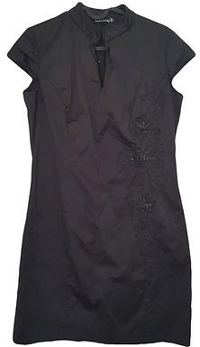 שמלת סאטן מחויטת בסגנון יפני M I RENUAR