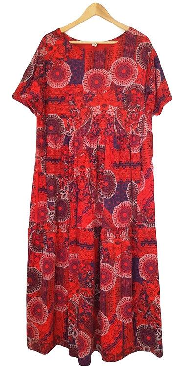 שמלת מקסי בוהו שיק  L\XL I MADE IN ITALY