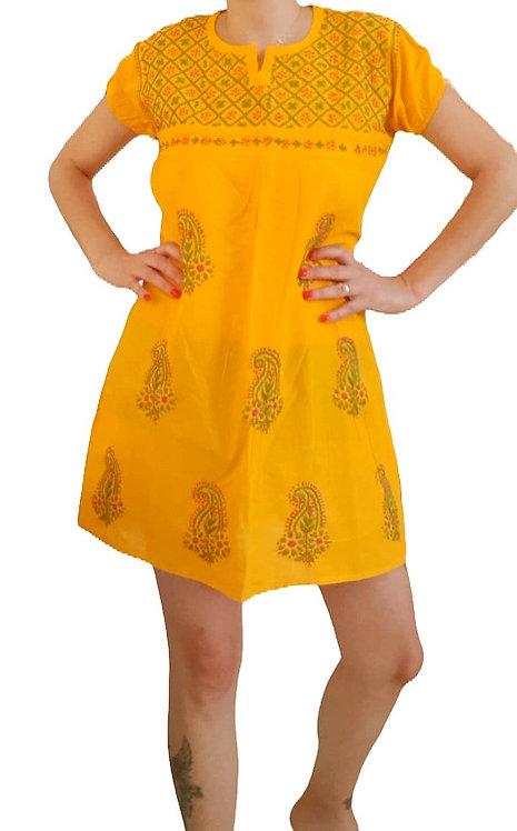 שמלה עם רקמת פייזלי בעבודת יד!  M\L I made in India