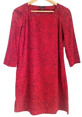 שמלה אדום-שחור M I MANGO