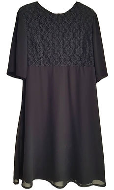 שמלת ערב שיפון ותחרה  XXL I Prestige