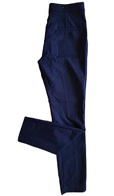 מכנסיים מחויטים כחול כהה S I Stradivarius