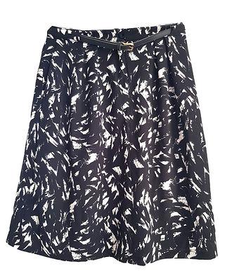 חצאית מידי שחור לבן M I HONIGMAN