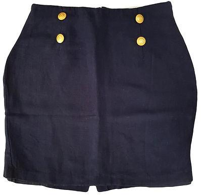 חצאית מיני פשתן בסגנון וינטג'  M I IMPULSE