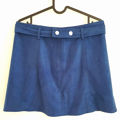 חצאית מיני זמש כחול פטרול S/M I