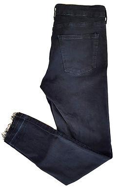 ג'ינס סקיני גבוה כחול כהה M I ZARA
