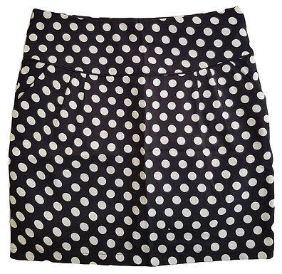 חצאית פשתן מנוקדת עם ביטנה   M\L
