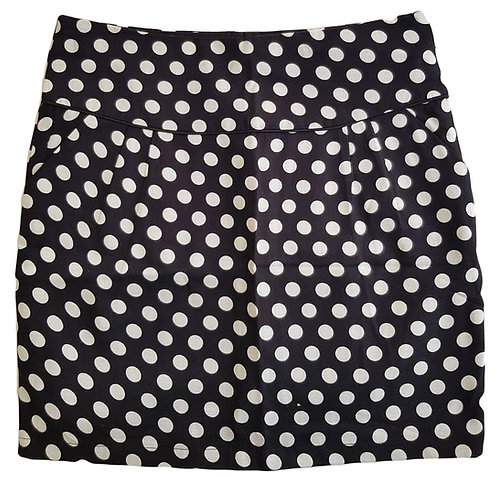 חצאית פשתן מנוקדת עם ביטנה | M\L