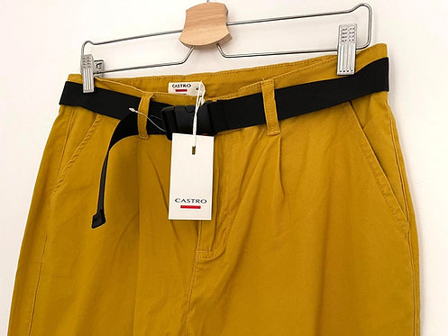 מכנסי ג'ינס צ'ינו חרדל M   CASTRO