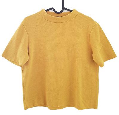 חולצה חרדלית חצי גולף M I ZARA