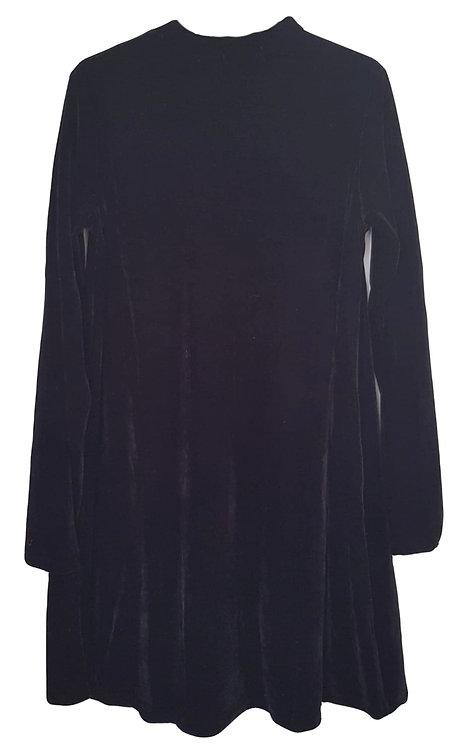 שמלת קטיפה מתרחבת  XS I HOODIES