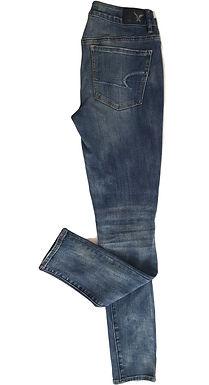 ג'ינס גזרה גבוהה סופר סטרץ' S I American Eagle