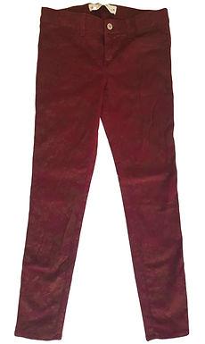 ג'ינס בורדו עם הדפס פרחים S   Abercrombie & Fitch