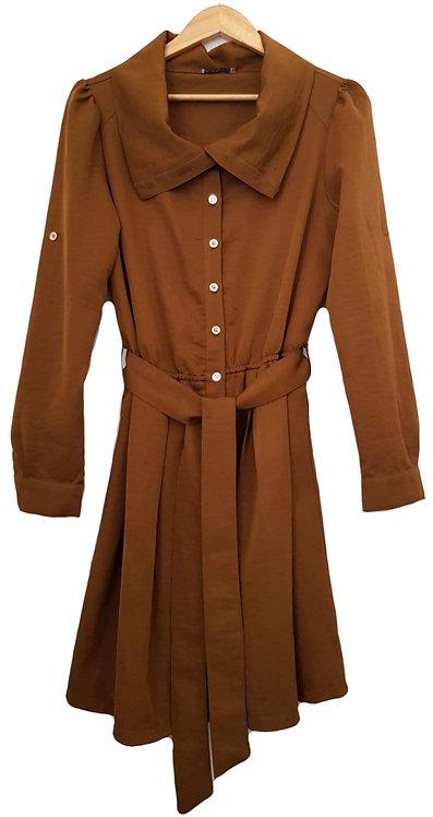 שמלה משגעת בצבע ברונזה L | Studio Pasha