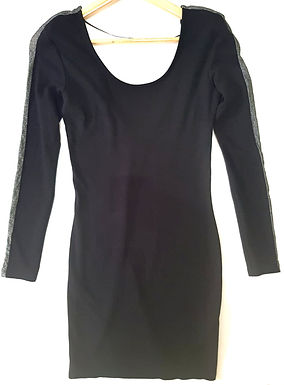 שמלת מיני עם פס כסוף M I  ZARA