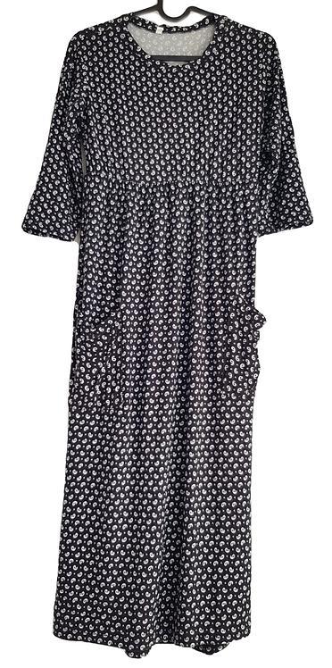 שמלה בסגנון סרפן שרוול 3/4 S I