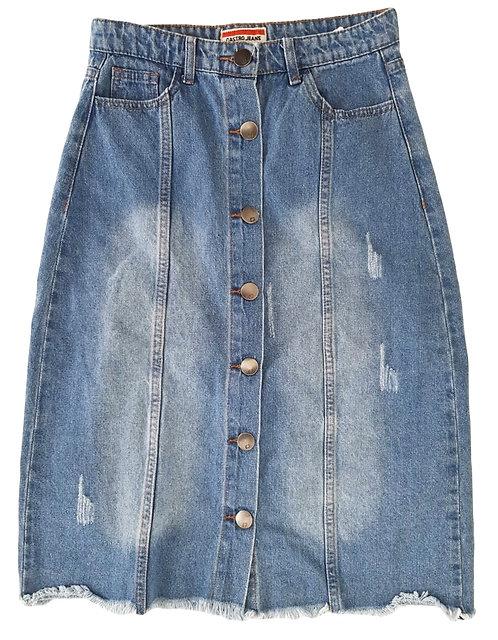 חצאית ג'ינס מידי S I CASTRO