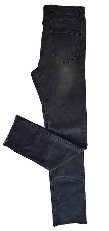 ג'ינס שחור ווש בגזרה גבוהה וישרה L I TAMNOON