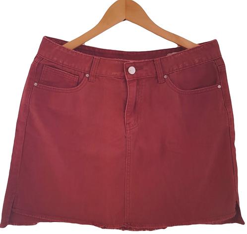 חצאית ג'ינס מיני בורדו L I Renuar