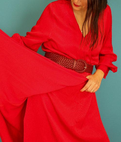 שמלת מידי אדום שני היסטרית!! L I H&M
