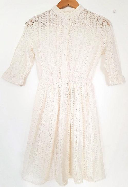 שמלת מיני תחרה רומנטית XS I Sweet Fashion
