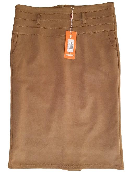 חצאית עיפרון קאמל  חדשה M | PINK