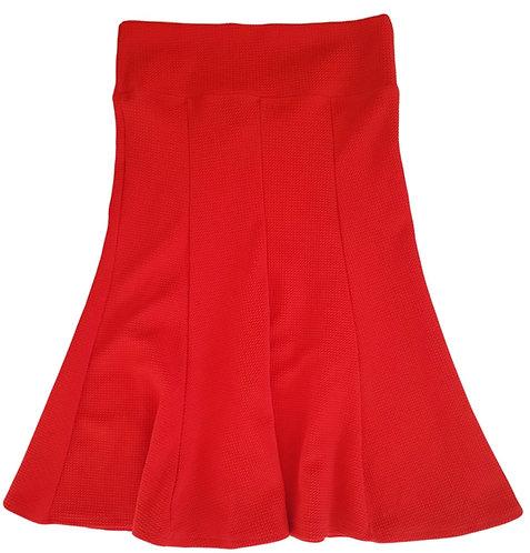 חצאית פעמון אדומה I S