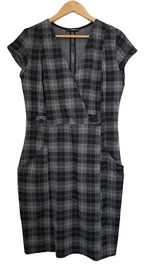 שמלת אריג פפיטה מונוכרומטית L\XL I