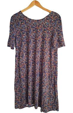שמלה פרחונית עם גב פתוח XL I TAMNOON