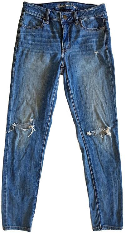 ג'ינס קרעים סטרץ S   American Eagle