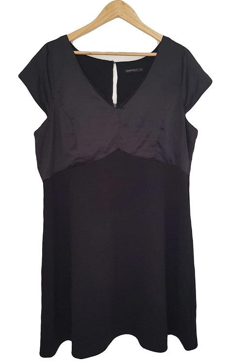 שמלה מתוקה משולבת סאטן XXL I ONOT