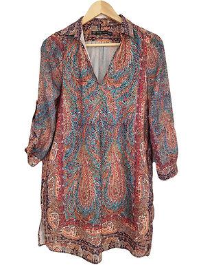 שמלת גלביה בוהמיינית S I ZARA