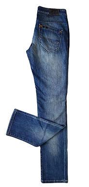 ג'ינס ישר בגזרה נמוכה M I Lee