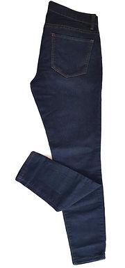 ג'ינס כחול כהה בגזרה נמוכה S I FOREVER 21