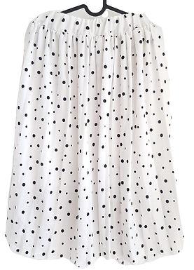 חצאית מידי מתנפנפת לבנה עם נקודות I S\XS