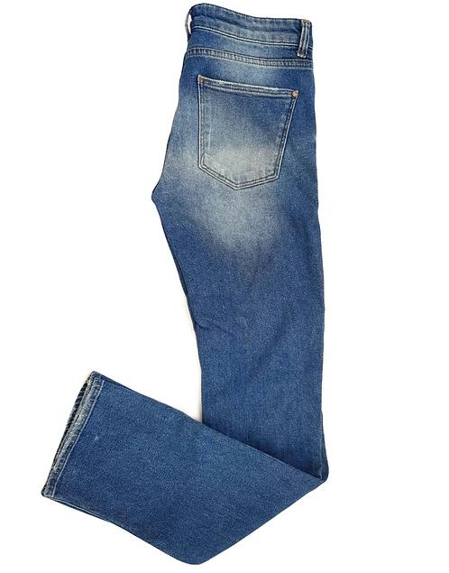 ג'ינס ישר עם קרעים M I MNG