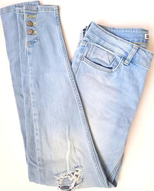 ג'ינס תכלת כפתורים M I ZARA