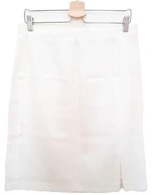 חצאית וינטג' אלגנטית לבנה XL I Mag Moda New