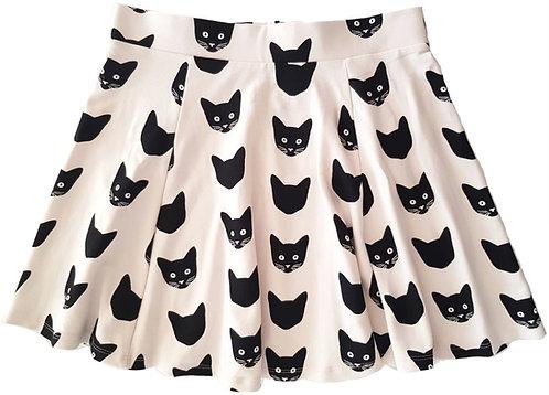 חצאית חתולים מונוכרומטית M I H&M