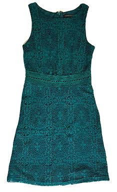 שמלת תחרה ירוק בקבוק S I TAMNOON