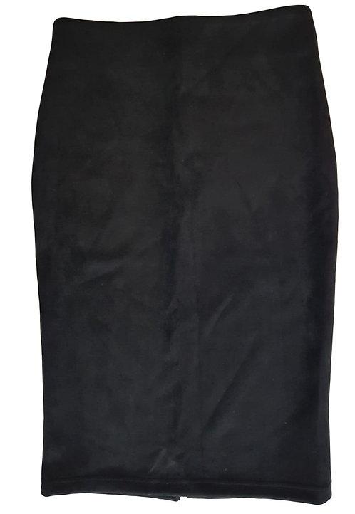 חצאית סיגר דמוי זמש